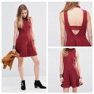 Free People Layla Fit & Flare Ponte Knit Dress